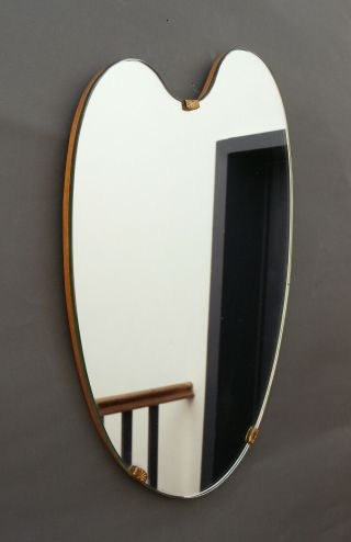 Vintage Freeform Wall Mirror Asymetric Rockabilly Mid Century 1950s Loewy Era