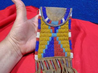 Native American Beaded Pouch Bag