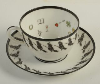 Rare Antique Petersyn Co Witch Wiccan Tea Leaves Fortune Cup Saucer
