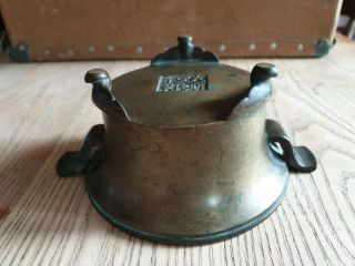 Antique Chinese Bronze Censer With Handles & Signed 6 Character Mark 12