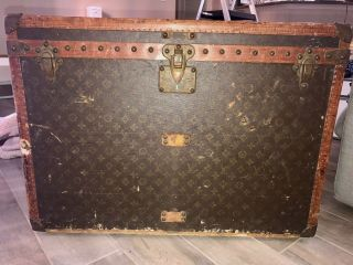 Louis Vuitton Vintage Antique Trunk For Hats And Shoes From 1930