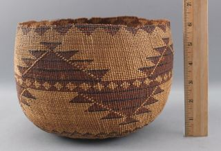 Large Antique Northern California Native American Hupa Indian Basket