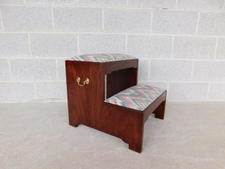 Henkel Harris Mahogany Chippendale Style Bed Steps