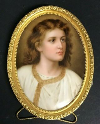 Kpm Porcelain Plaque Of Young Jesus