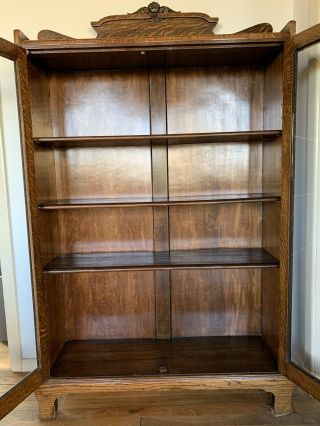 American Walnut Glass Door Bookcase