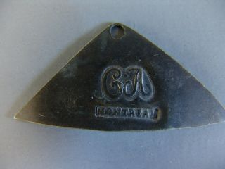 Fur Trade Silver Nose Or Ear Bob Marked C A (charles Arnoldi) & Montreal