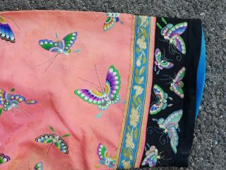 Antique 19 th Chinese silk embroidery robe 4
