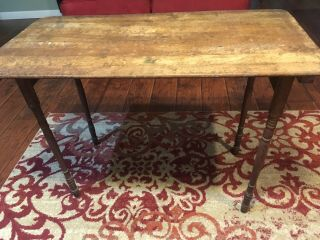 Vintage Wooden Sewing Crafting Table Made By Paris Mfg.  Co.