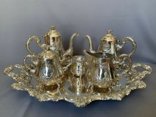 Gorgeous Heavy Sterling Silver 925 Tea & Coffee Set.  3951 Gr
