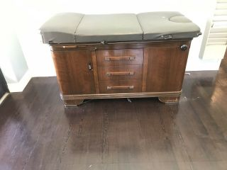 Vintage Hamilton Medical Examination Table And Cabinets Complete Matching Set.