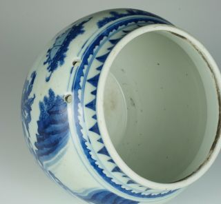 Fine & rare Chinese Transitional porcelain potiche with figures,  Chongzhen 1640 8