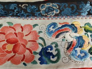 A antique embroidered red silk Chinese robe 4