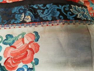 A antique embroidered red silk Chinese robe 6