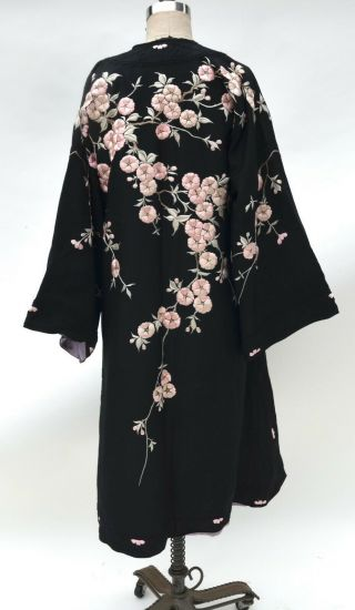 Exquisite Chinese Silk Embroidered Turn Of The Century Embroidered Robe