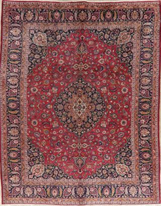 Traditional Floral Oriental Area Rug Wool Handmade Medallion Carpet 10 X 12