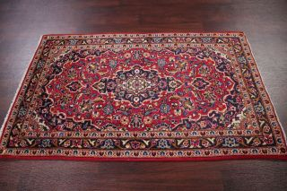 Vintage Traditional Floral Persian Area Rug Red Fine Oriental Wool Carpet 3