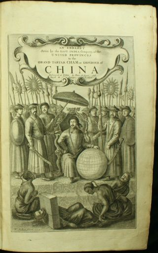 Ogilby Nieuhoff Kircher Embassy To China 1673 Folio Map Plates Tartary Rare Nr