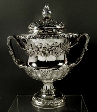 English Sterling Wine Cooler 1824 Emes & Barnard - 87 Ounces