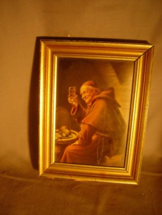 Berlin Porcelain Plaque Signed Wagner Monk Drinking Kpm Quality Marked Mr