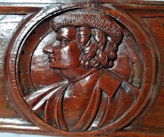 Stunning Early 16th Century Oak Romayne Portrait Panel Circa 1530