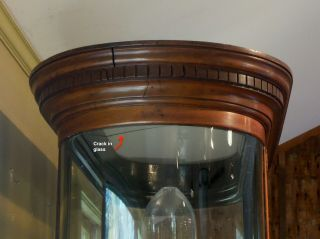Antique English Mahogany and Glass Shop Display Cabinet,  Vitrine,  Curved glass 5