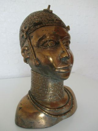 Fine Old African Benin Gilt Bronze Figure Of A Young King - Oba - Tribal Art