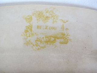 Antique 1830 ' s RARE Staffordshire Enoch Transferware Brown &Yellow Belzoni yqz 12
