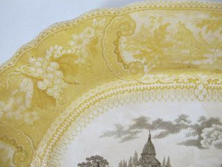 Antique 1830 ' s RARE Staffordshire Enoch Transferware Brown &Yellow Belzoni yqz 5