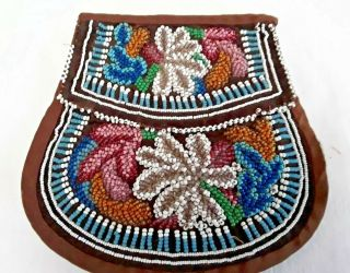 Antique Native American Tribal Beaded Bag Pouch Purse