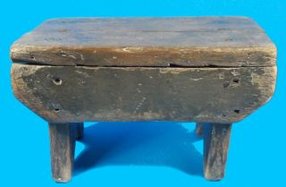 Antique American Cricket Footstool Square Nails Some Green Paint