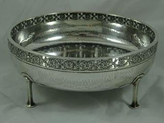 Arts & Crafts,  Solid Silver Fruit Bowl,  1926,  464gm - Connell