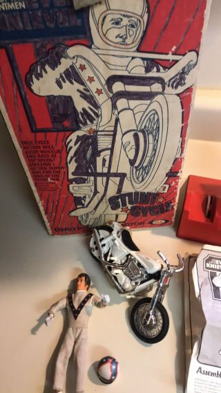 1973 Evel Knievel Stunt Cycle Rare 1st Edition