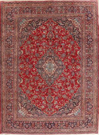 Traditional Persian Design Area Rug Handmade Wool Oriental Floral Carpet 10 X 13