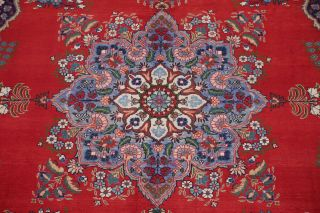 Vintage Geometric SCARLET Persian Oriental Area Rug Hand - Knotted Oriental 8x11 4