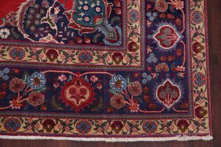 Vintage Geometric SCARLET Persian Oriental Area Rug Hand - Knotted Oriental 8x11 6