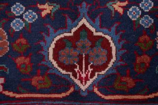 Vintage Geometric SCARLET Persian Oriental Area Rug Hand - Knotted Oriental 8x11 9