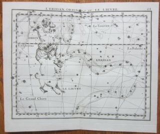 Flamsteed Astronomy Celestial Map Orion - 1776