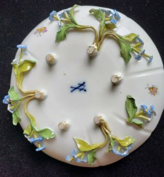 Exceptional Meissen Tea Set,  Insects Leaves,  Flowers,  Crossed Swords 5