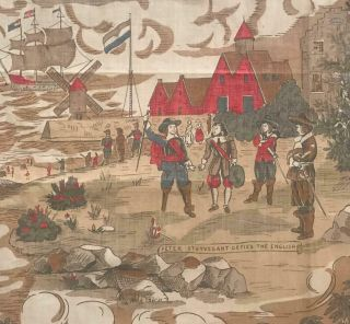 19th Century Roller Printed Cotton Toile De Jouy,  American Or English 115