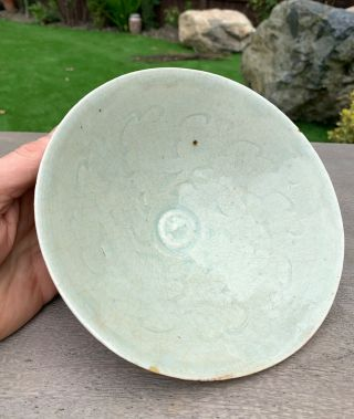 Very Fine And Rare Early Chinese Qingbai Bowl With Carved Decoration