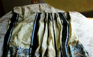 Antique Chinese Silk Embroidery Forbidden Stitch Skirt