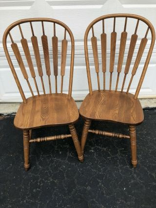 Richardson Brothers Company Steam Bent Oak Chairs (2)