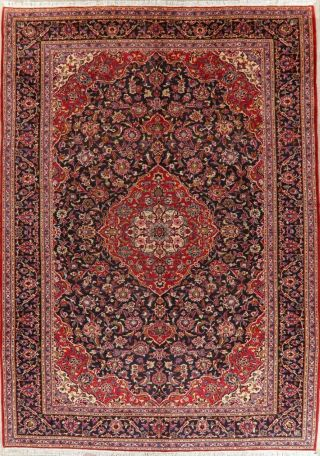 Traditional Persian Design Area Rug Hand - Knotted Oriental Floral Wool 10x14 Red