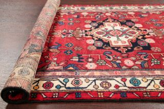 Vintage Red Bakhtiari Persian Oriental Area Rug Hand - Knotted Wool Carpet 4