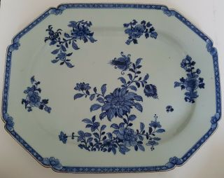 Magnificent Very Large Antique Chinese Blue&white Porcelain 18th C Plate/dish 1