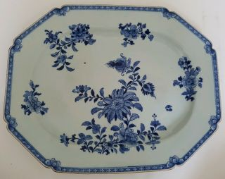 Magnificent Very Large Antique Chinese Blue&white Porcelain 18th C Plate/dish 2