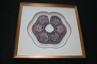 Antique Chinese Silk Embroidery Panel Piece With Modern Framed Glazed 2