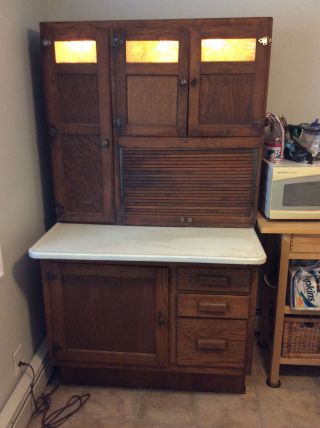 Antique Oak Hoosier Cabinet