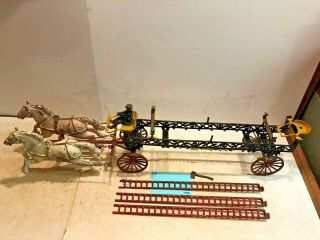 Vintage Toys,  Wilkins Hubley Ives Kenton Parts,  Ives Ladder Wagon,  Cast Iron 2