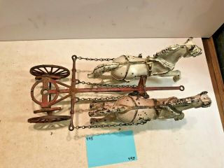 Vintage Toys,  Wilkins Hubley Ives Kenton Parts,  Ives Ladder Wagon,  Cast Iron 9